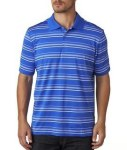 Bodek A123 Adidas Men's Pure Motion Textured Stripe Polo