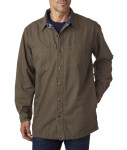 Bodek BP7006 Backpacker Men's Canvas Shirt Jacket with Flannel Lining