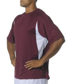 Bodek N3181 A4 Adult Cooling Performance Color Block Short Sleeve Crew
