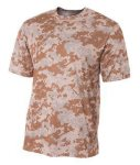 Bodek N3256 A4 Adult Camo Performance Tee