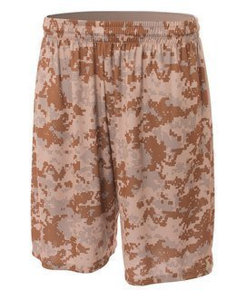 "Bodek N5322 A4 Adult 10"" Printed Camo Performance Short"
