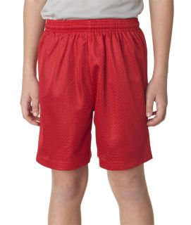 "Bodek NB5301 A4 Youth 6"" Lined Tricot Mesh Short"