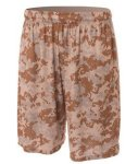 "Bodek NB5322 A4 Youth 8"" Printed Camo Performance Short"