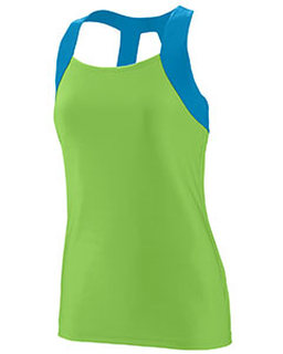 Alpha Broder 1208 Ladies Wicking Poly/Span Open Back Tank