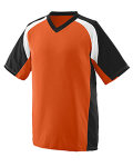 Alpha Broder 1536 Youth Wicking Polyester V-Neck Short-Sleeve Jersey With Inserts