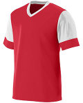 Alpha Broder 1601 Youth Wicking Polyester V-Neck Jersey With Contrast Sleeves