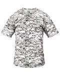 Alpha Broder 2980 Youth Two-Button Placket Self Collar Tee