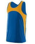 Alpha Broder 341 Youth Wicking Polyester Sleeveless Jersey With Contrast Inserts