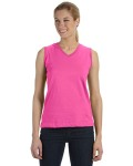 Broder Bros. 3584 Ladies' Combed Ringspun Jersey V-Neck Sleeveless T-Shirt
