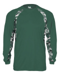 Alpha Broder 4155 Adult Digital Hook Long Sleeve Performance Tee