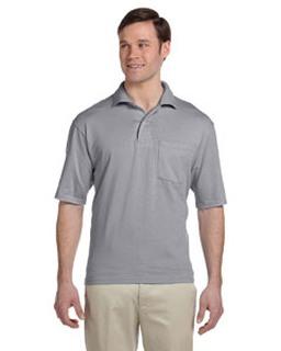 Alpha Broder 436P Adult 5.6 Oz. Spotshield™ Pocket Jersey Polo