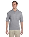 Alpha Broder 436P 5.6 Oz., 50/50 Jersey Pocket Polo With Spotshield™