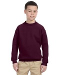 Alpha Broder 4662B Youth 9.5 oz. Super Sweats® 50/50 Fleece Crew