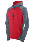 Alpha Broder 4762 Adult Wicking Brushed Back Poly/Span Hoody
