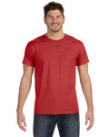 Alpha Broder 498P 4.5 Oz., 100% Ringspun Cotton Nano-T® T-Shirt With Pocket