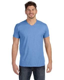 Alpha Broder 498V 4.5 Oz., 100% Ringspun Cotton Nano-T® V-Neck T-Shirt