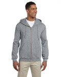 Alpha Broder 4999 Adult 9.5 Oz., Super Sweats® Nublend® Fleece Full-Zip Hood