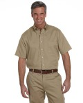 Alpha Broder 56850 Men's Short-Sleeve Wrinkle-Resistant Oxford