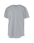 Alpha Broder 586 Youth Wicking Two-Button Baseball Jersey