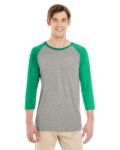 Alpha Broder 601RR Adult 4.5 Oz. Tri-Blend Baseball Raglan