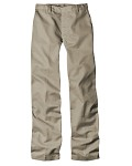 Alpha Broder 63305 7 oz. Girls' Flat Front Straight Leg Pant