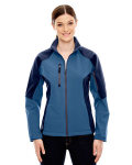 Alpha Broder 78077 Ladie's Compass Colorblock Three-Layer Fleece Bonded Soft Shell Jacket