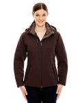 Alpha Broder 78080 Ladie's Glacier Insulated Three-Layer Fleece Bonded Soft Shell Jacket With Detachable Hood