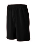 Alpha Broder 809 Youth Long Length Wicking Mesh Athletic Short