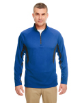 Alpha Broder 8434 Adult Cool & Dry Color Block Dimple Mesh 1/4-Zip Pullover