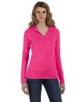 Alpha Broder 875 Ladies' Cotton/Spandex Half-Zip Hooded Pullover