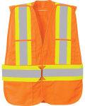 Alpha Broder 88710 5-Point Vertical Stripe Tear Away Safety Vest