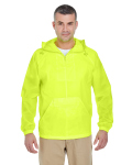 Alpha Broder 8925 Adult 1/4-Zip Hooded Pullover Pack-Away Jacket