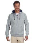 Alpha Broder 93CR Adult 8 Oz. Nublend® Contrast Full-Zip Hood