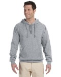 Alpha Broder 994MR 8 oz. NuBlend® 50/50 Fleece Quarter-Zip Pullover Hood