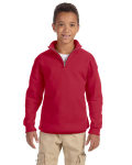 Alpha Broder 995Y Youth 8 Oz., 50/50 Nublend? Quarter-Zip Cadet Collar Sweatshirt