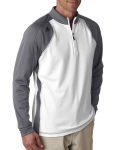 Alpha Broder A276 Men's Climawarm 3-Stripes Color Block 1/4-Zip Training Top