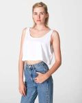 Alpha Broder ABB381W Ladie's Poly-Cotton Loose Crop Tank Top