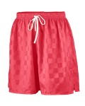 Alpha Broder AG431 Youth Long Length Checkerboard Nylon Soccer Short