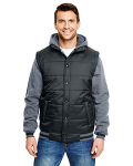 Alpha Broder B8701 Adult Fleece Sleeved Puffer Vest