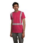 Alpha Broder BA3700 5.4 Oz., 100% Cotton Hi-Visibility Segmented Striping T-Shirt
