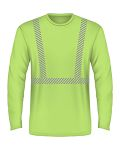 Alpha Broder BA3706 5.4 Oz., 50/50 Hi-Visibility Segmanted Striping Long-Sleeve T-Shirt