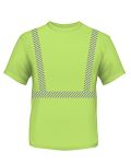 Alpha Broder BA3730 4.5 Oz., Polyester Performance Hi-Visibility Segmented Striping T-Shirt