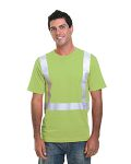Alpha Broder BA3755 4.5 Oz., Polyester Performance Hi-Visibility Solid Striping T-Shirt