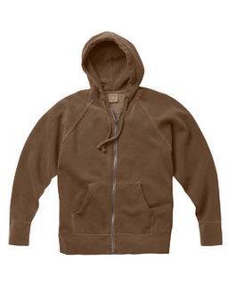 Alpha Broder C1564 10 Oz. Garment-Dyed Full-Zip Hooded Sweatshirt
