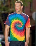 Alpha Broder CD100 5.4 Oz., 100% Cotton Tie-Dyed T-Shirt