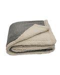Alpha Broder CORD 50x60 Corduroy Lambswool Throw Blanket
