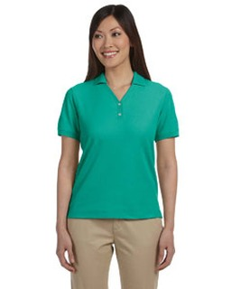 Alpha Broder D100W Ladie's Pima Pique Short-Sleeve Y-Collar Polo