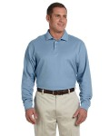 Alpha Broder D110 Men's Pima Pique Long-Sleeve Polo