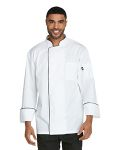 Alpha Broder DC411 Unisex Cool Breeze Chef Coat With Piping