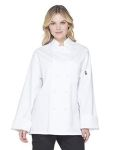 Alpha Broder DC43 Unisex Classic Knot Button Chef Coat